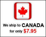 We ship to Canada for only $7.95