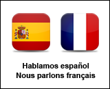 We speak spanish and french, Hablamos espa&ntilde;ol, Nous parlons fran&ccedil;ais