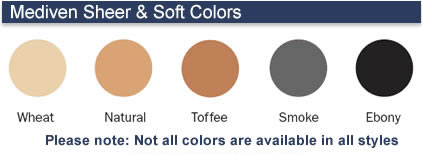 1fc1fbc057 Mediven Sheer & Soft Colors Please Note: Not all colors are available in  all styles