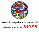 We ship anywhere in the world. Great rates from $24.95