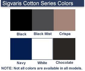 a39decb8f Sigvaris Cotton Series Colors Note  Not all colors are available in all  models.
