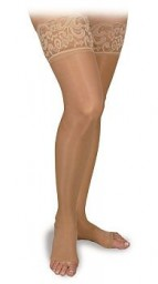 Activa Sheer Therapy Silicone Lace Top Open Toe Thigh Highs 15-20 mmHg