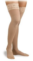 Activa Soft Fit Graduated Therapy Lace Top Thigh Highs 20-30 mmHg