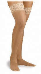 Activa Ultra-Sheer Lace Top Thigh Highs 9-12 mmHg