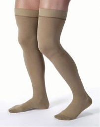 Jobst for Men 15-20 mmHg Moderate Support Closed Toe Thigh Highs