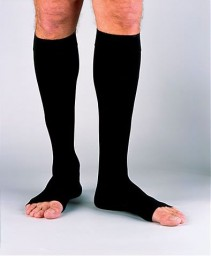 Jobst Men's 20-30 mmHg Open Toe Knee High Support Socks