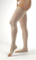 Jobst Opaque Open Toe Thigh High 15-20 mmHg Support Stockings