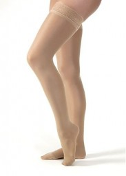 Jobst Ultrasheer Petite Thigh Highs 20-30 mmHg Firm w/ Lace Silicone Top Band