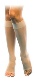 Sigvaris 120C Well Being Sheer Fashion 15-20 mmHg Open Toe Knee Highs New!!!!