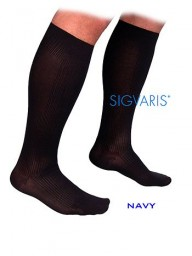 Sigvaris 180C Well Being (Samson) Classic Ribbed 15-20 mmHg Closed Toe Knee Highs