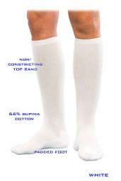 Sigvaris 182C Well Being Cushioned Cotton 15-20mmHg Closed Toe Men's Knee Highs