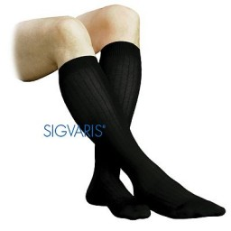 Sigvaris 185C (Samson) Classic Dress 15-20mmHg Closed Toe Men's Socks