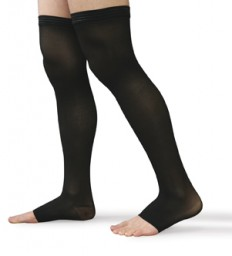 Therafirm Unisex Open Toe Thigh Highs Firm 30-40mmHg