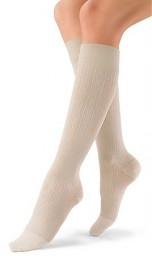Jobst Women's soSoft Brocade Pattern 30-40 mmHg Closed Toe Knee High Support Socks