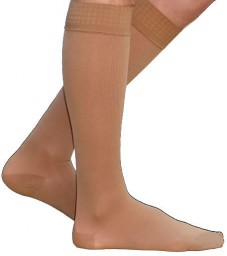 Sigvaris 860 Select Comfort 20-30 mmHg Men's Closed Toe Knee Highs w/ Silicone Grip top - 862C