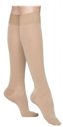 Sigvaris 860 Select Comfort 30-40 mmHg Women's Closed Toe Knee Highs w/ Silicone Grip top - 863C