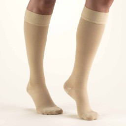 Truform Classic Medical Closed Toe 20-30 mmHg Knee Highs (w/ Silicone Dot Top)