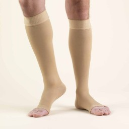 Truform Classic Medical Open Toe 20-30 mmHg Knee Highs (w/ Silicone Dot Top)