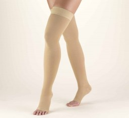 Truform Classic Medical Open Toe 30-40 mmHg Thigh High (w/ Silicone Dot Top)