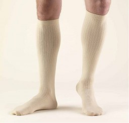 Truform Men's 30-40 mmHg Dress Knee High Socks