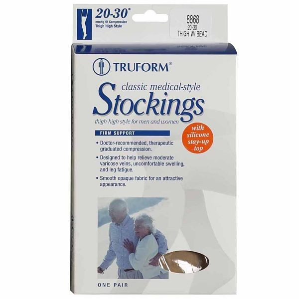 7ceddeaebc1 Truform Classic Medical Closed Toe 20-30 mmHg Thigh High (w  Silicone Dot  Top)