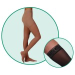 Juzo Attractive 4602 Closed Toe Thigh Highs 30-40 mmHg w/ Decorative Silicone Border
