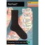 PerFeet Gold Crew Diabetic Socks with SeaCell Active